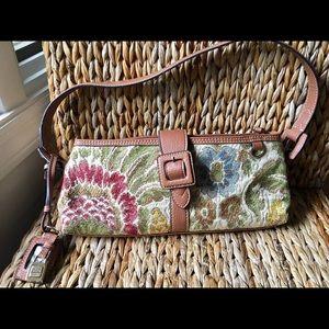 Liz Claiborne tapestry shoulder purse